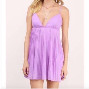 Tobi babydoll pleated dress